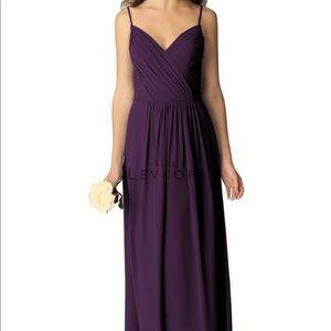 Bill Levkoff Plum Bridesmaid dress